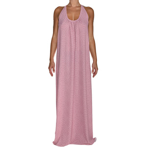 Dusty Pink Pearls Maxi Dress