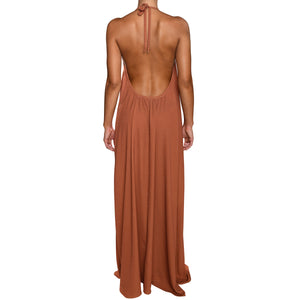 Grecian Brick Red Maxi Dress