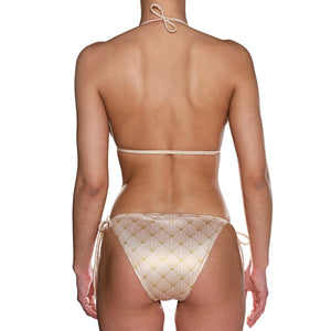 Nude Shell Tie Side Triangle Bikini