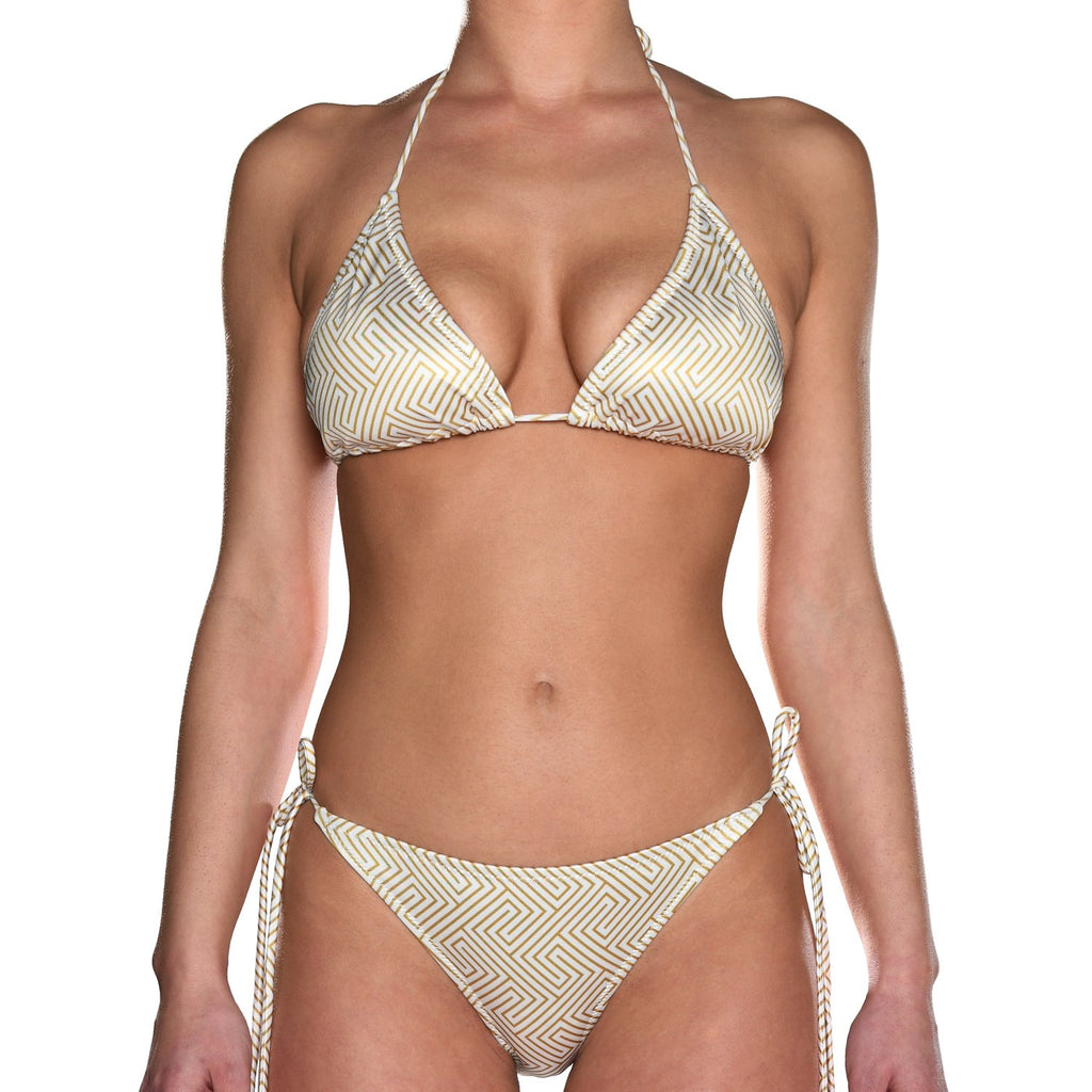 Grecian Gold Tie Side Triangle Bikini