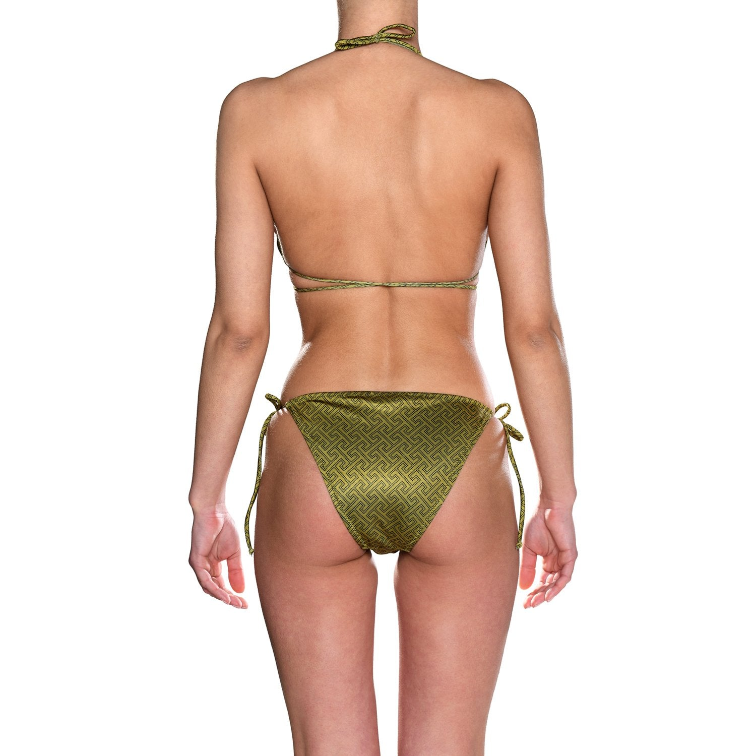 Grecian Olive Tie Side Triangle Bikini