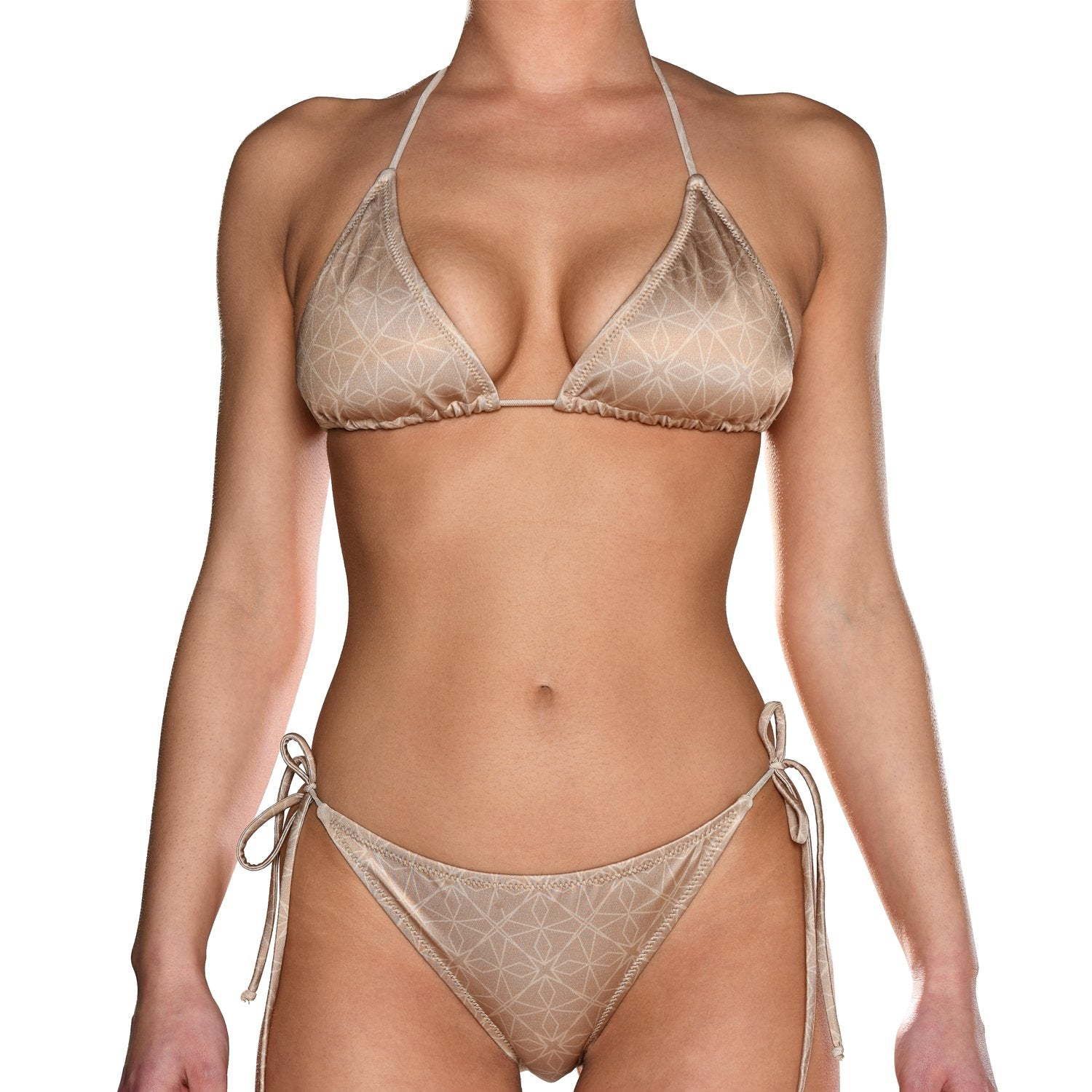 Ivory Tie Side Triangle Bikini