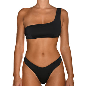 Black One Shoulder Bikini