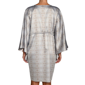 Silver Mini Satin Kaftan