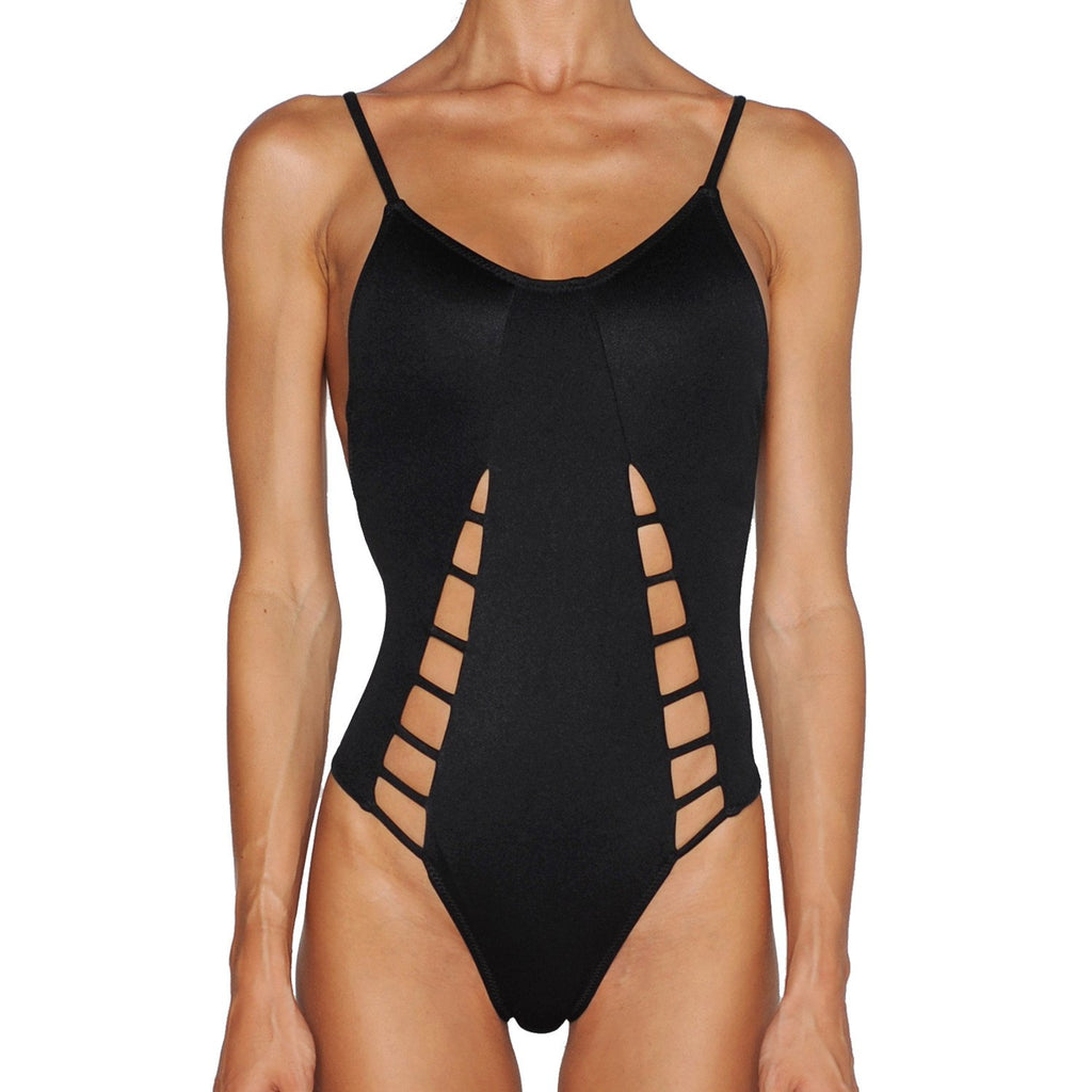 Black Cutout Swimsuit