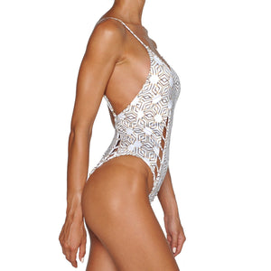 Gold Star Cutout Swimsuit