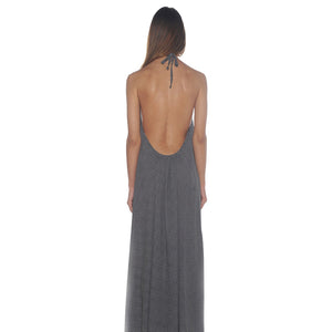 Grecian Black Maxi Dress