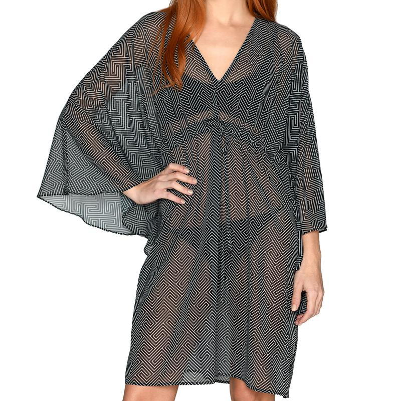 Grecian Black Mini Kaftan