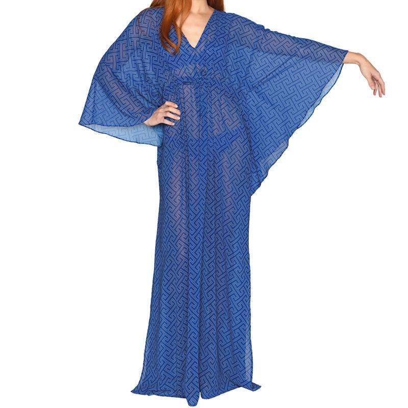 Royal Grecian Blue Maxi Kaftan