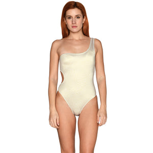 Grecian Gold One Shoulder Swimsuit