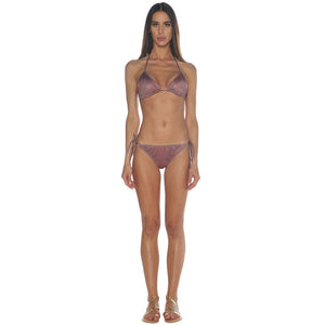 Mosaic Terracotta Tie Side Bikini