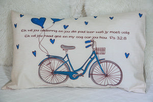 Bicycle Pillow Case (blue)