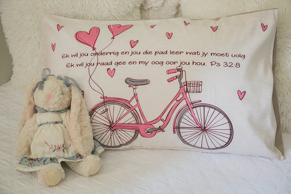 Bicycle Pillow Case (pink)