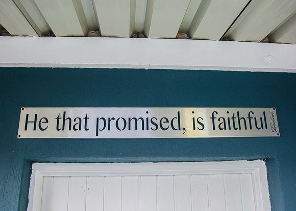 He that promised.. Banner