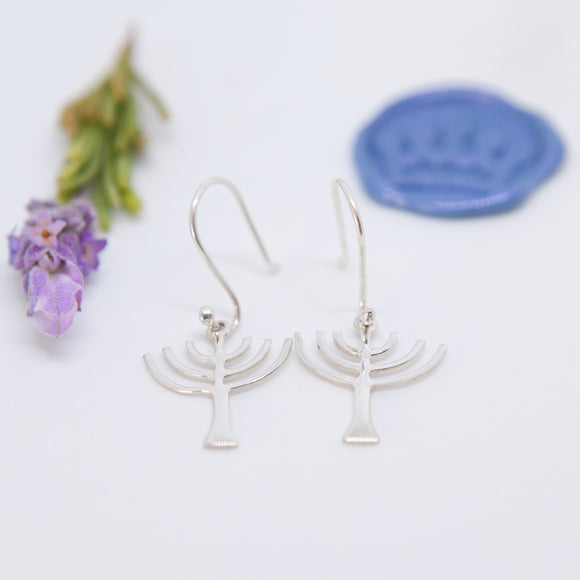 Menorah Earrings