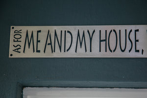 As for me and my house.. Banner