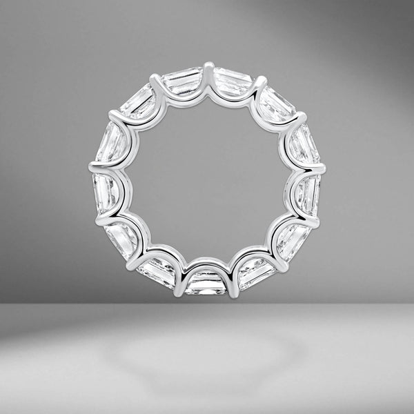 Asscher Cut Eternity Band .80ct Each Stone