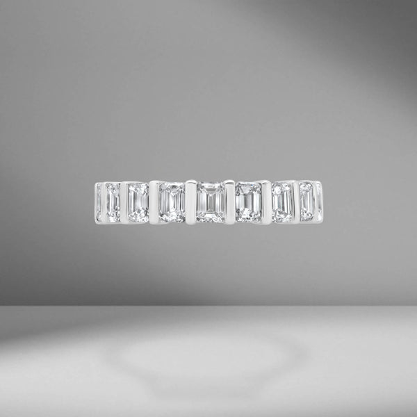 Emerald Cut Eternity Band .30ct Each Stone