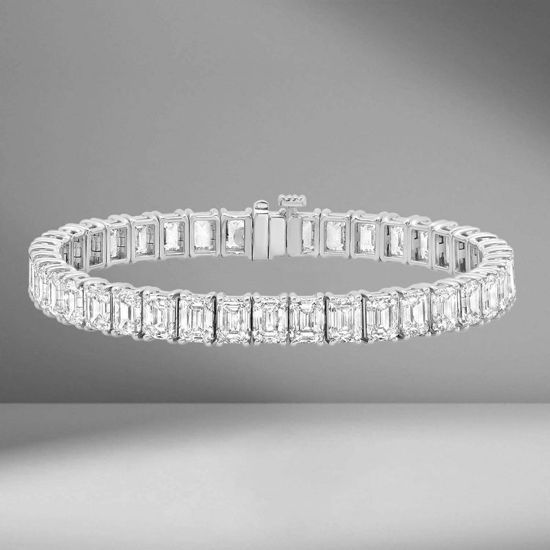 Emerald Cut Tennis Bracelet .5ct Each Diamond