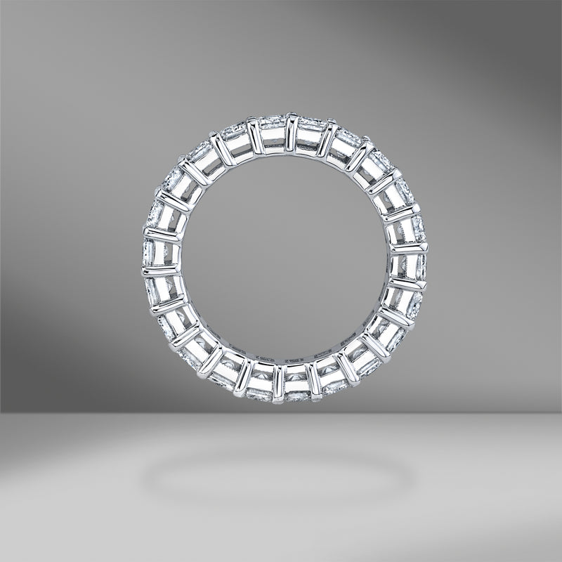 Emerald Cut Diamond Eternity Band .36ct Each Stone