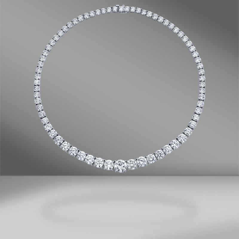 Diamond Rivière Tennis Necklace