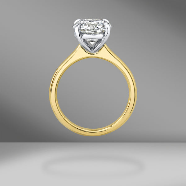 Two-Tone Solitaire Ring with Round Brilliant