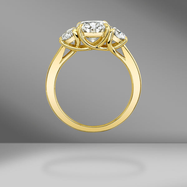 Three Stone Oval Ring