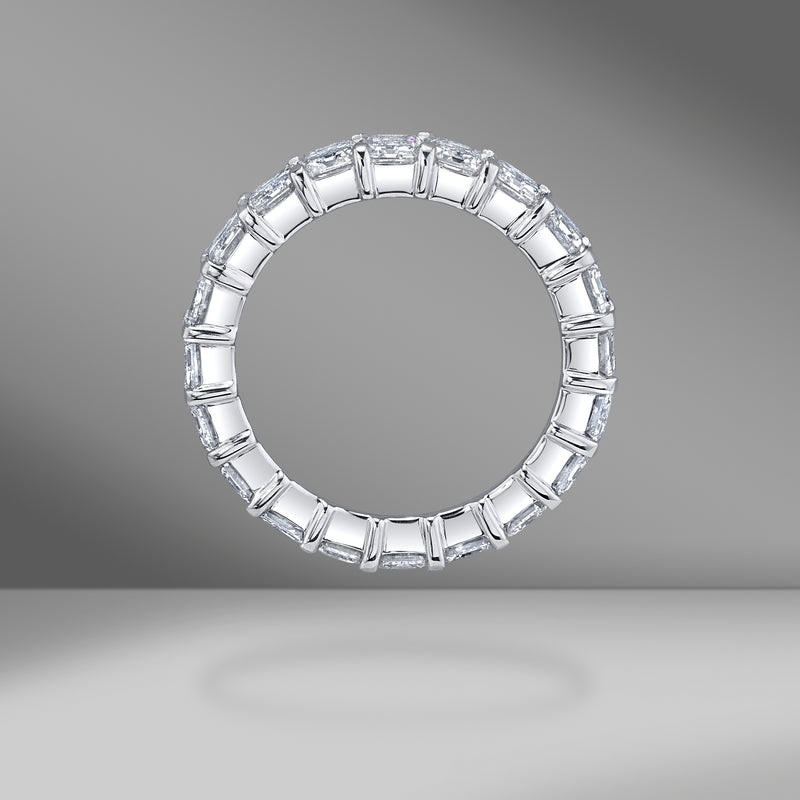 Emerald Cut Eternity Band .35ct Each Stone