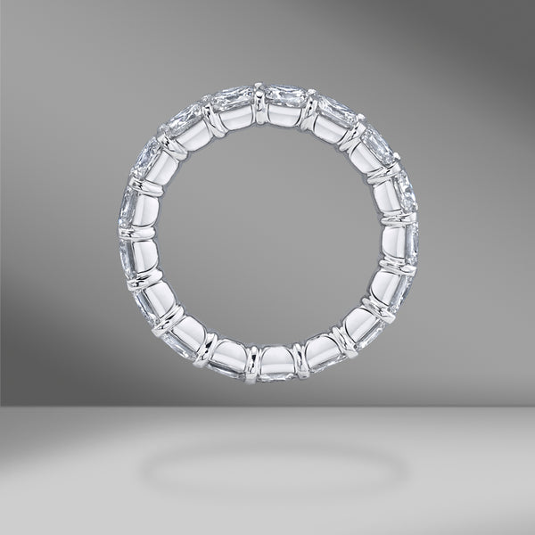 Square Cushion Cut Eternity Band .35ct Each Stone