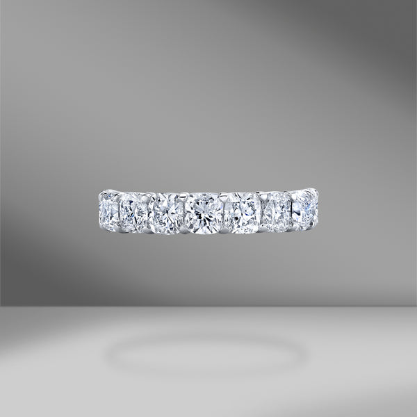 Cushion Cut Eternity Band .25 Each Stone
