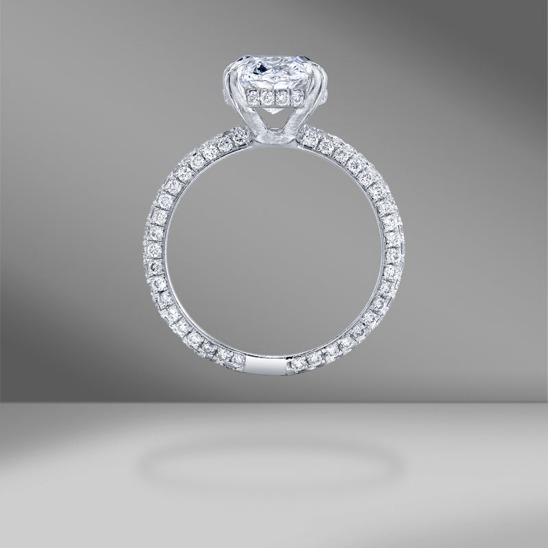 Oval Brilliant Diamond with Tapered Diamond Band