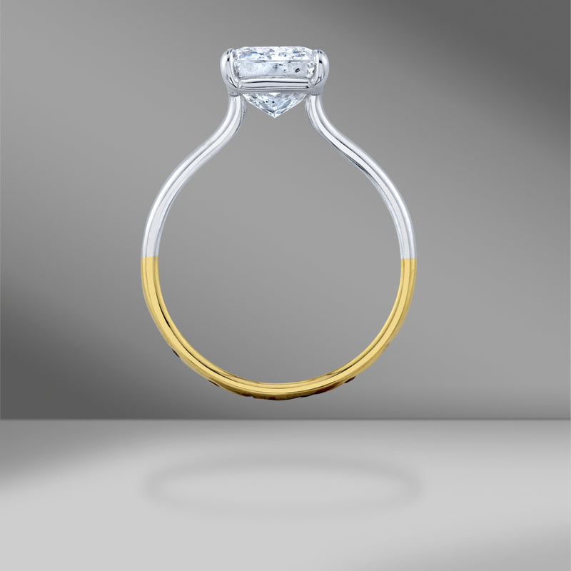 The MICHAEL Ring with a Radiant Cut Diamond