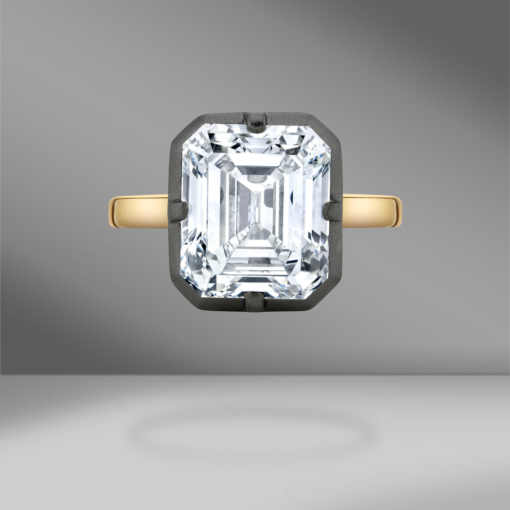 Eclipse Emerald Cut Diamond Ring