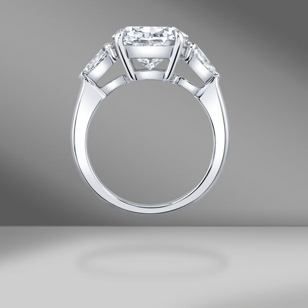 The CHRISTINE Ring with Antique Cushion Cut Diamond