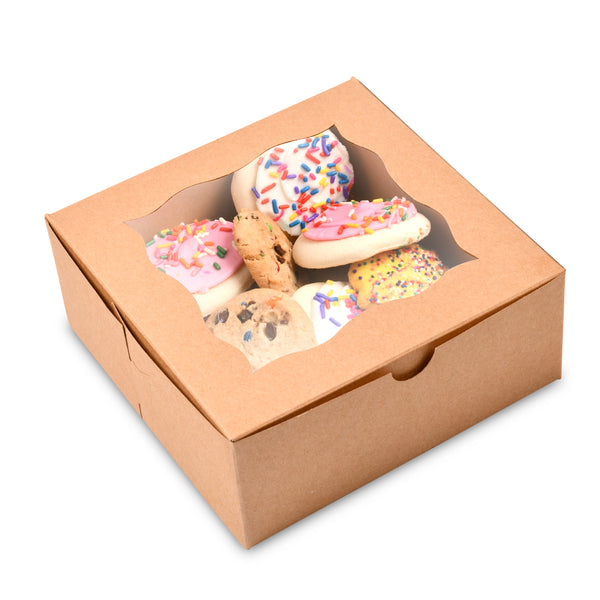 "Cookie Boxes 6""X6""X2.5"" {Pack of 50}"