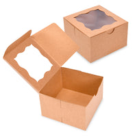 "{50-Pack} Brown Bakery Boxes 4""X4""X2.5"""
