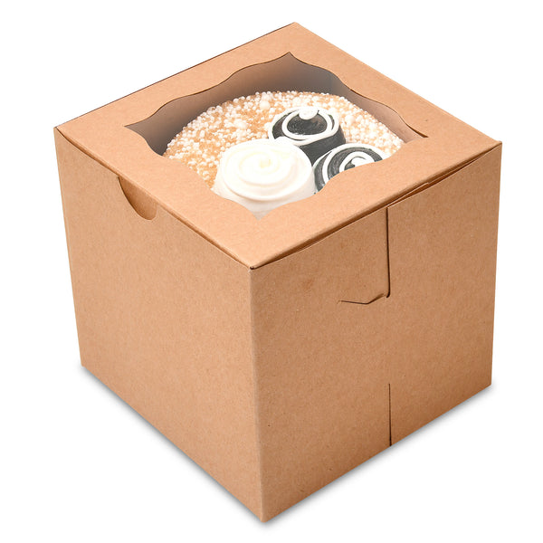 "Cupcake Boxes 4""X4""X4"" {Pack of 50}"