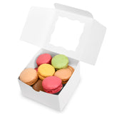 "{50-Pack} White Bakery Boxes 4""X4""X2.5"""