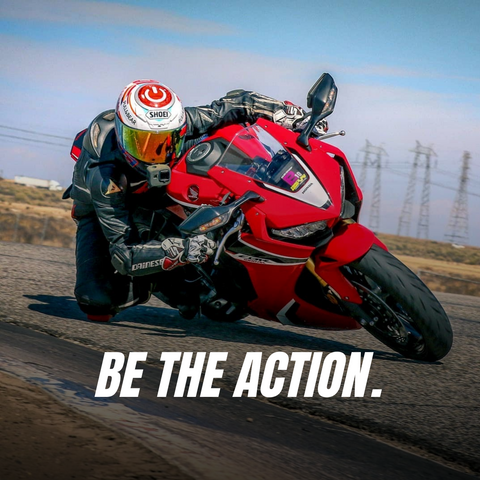 motorcycle action photo dragging knee