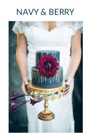 NAVY AND DARK RED WEDDING COLOUR SCHEME AUTUMN WINTER