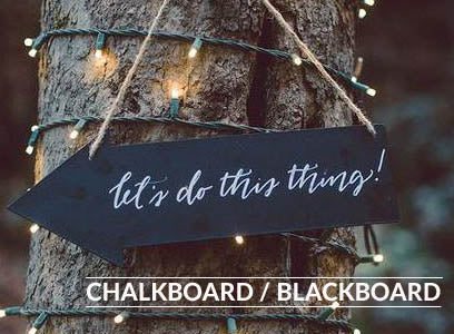 Blackboard chalkboard wedding decorations for sale