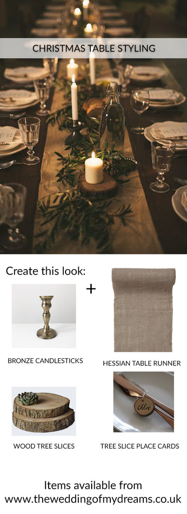 Christmas Table Styling Ideas - Gold and Wood Farmhouse