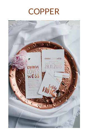 COPPER WEDDING COLOUR SCHEME AUTUMN WINTER