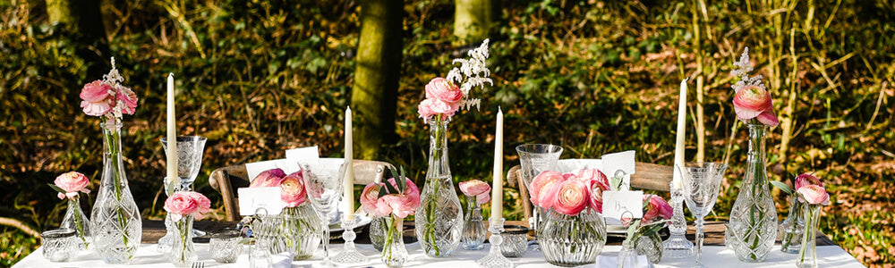 Crystal glass vases wedding decorations centrepieces candle sticks  - for sale
