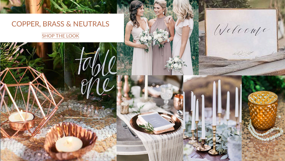 COPPER NEUTRAL WEDDING COLOUR SCHEMES AUTUMN WINTER