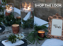 Copper Grey wedding centrepieces