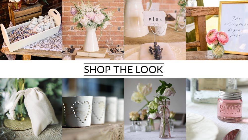 Cream jug wedding centrepiece shop the look