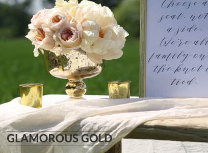 glamorous gold wedding decorations for sale