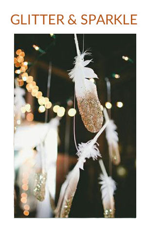 GLITTER SPARKLE GOLD WEDDING COLOUR SCHEME WINTER