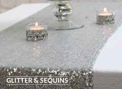 glitter and sequin wedding decorations for sale